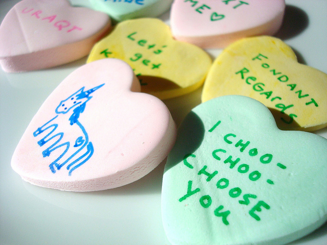Various Candy Hearts