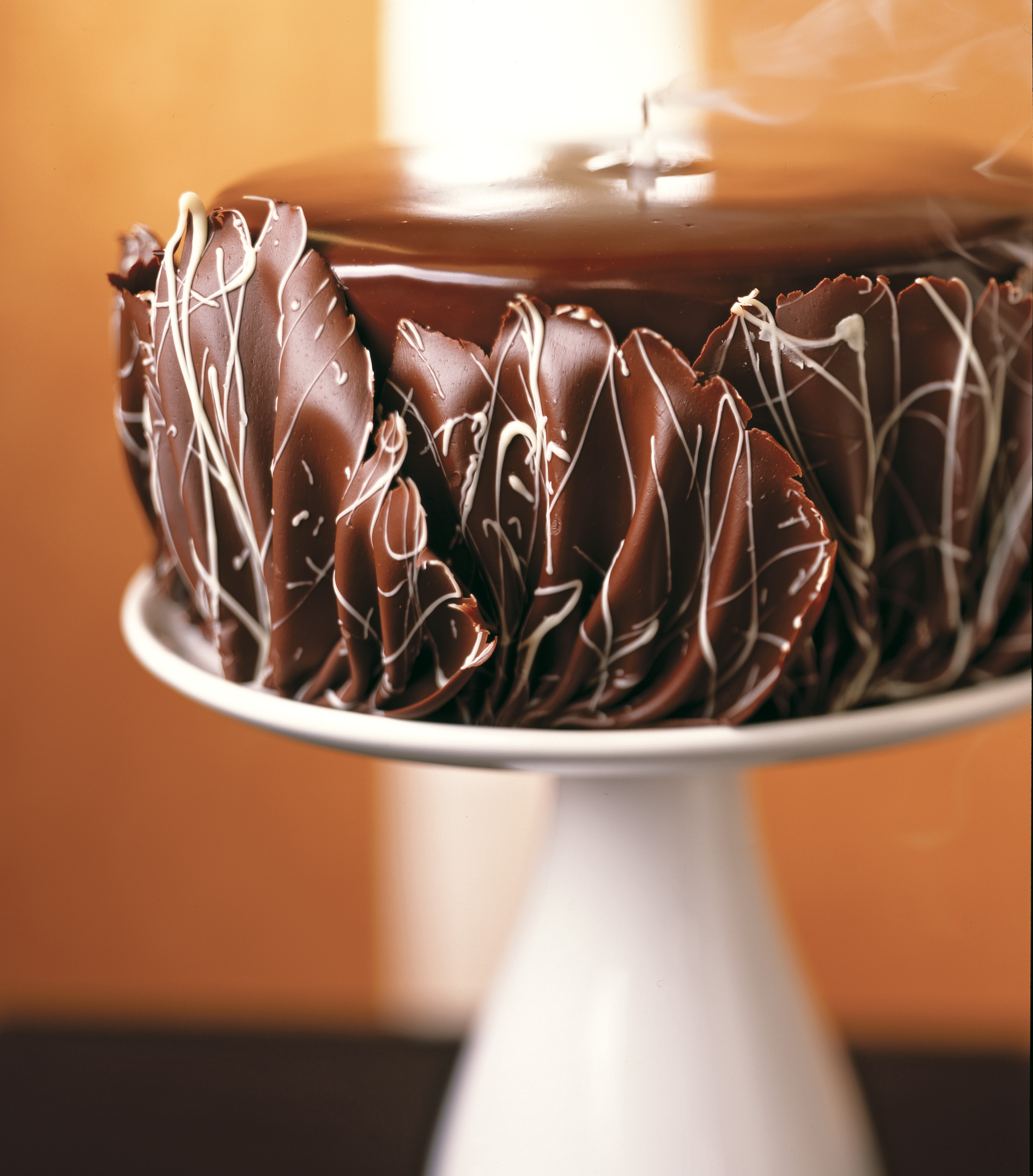 Bluprint.com: Decadent Chocolate Cake on Pedestal
