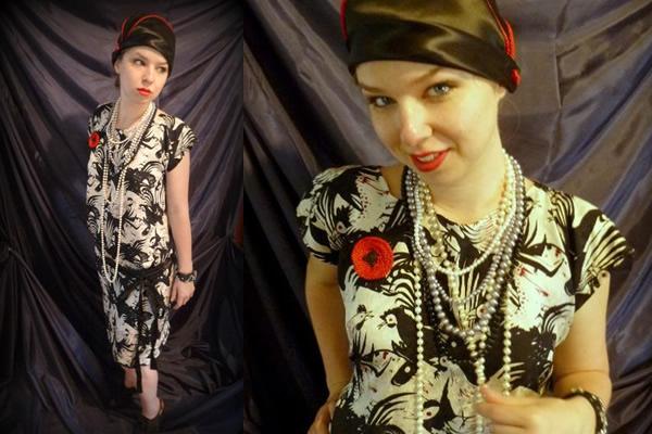 Girl Modeling Vintage Dress by Bluprint Member