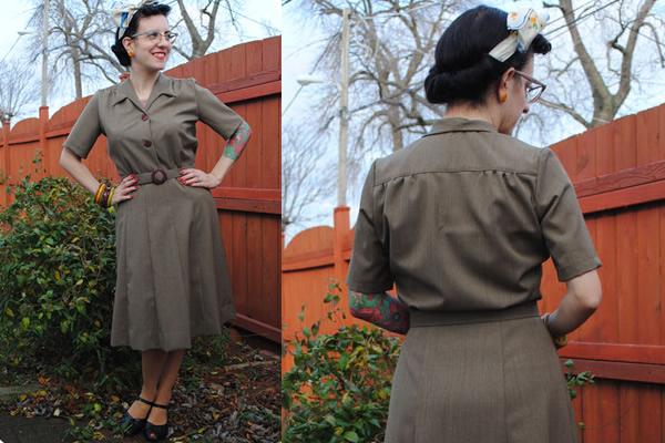 Classy Vintage Day Dress