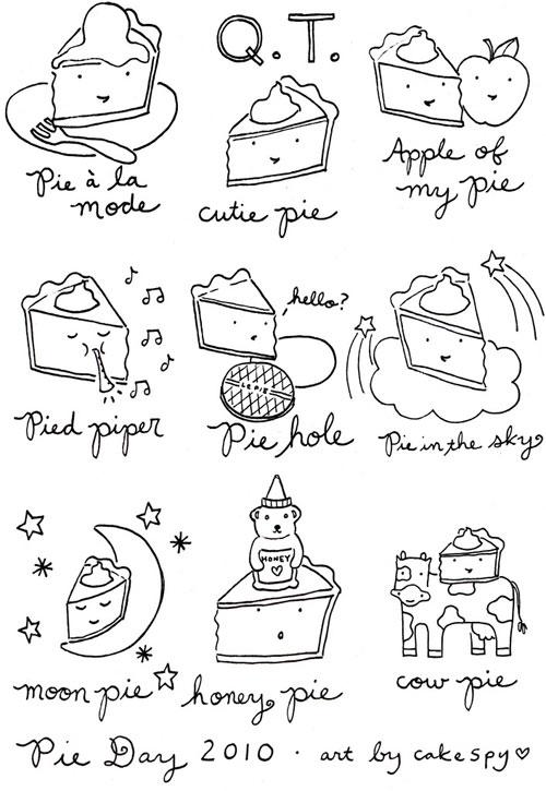 Cartoons of Pies