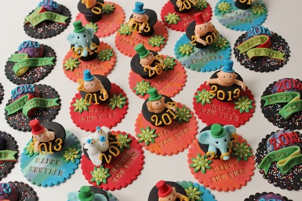 Assorted Fondant Cupcake Toppers