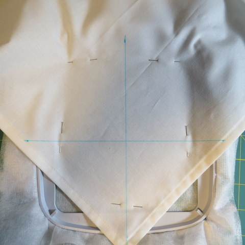 Positioning Napkin in Embroidery Hoop