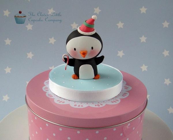 Cute Little Penguin Cake Topper