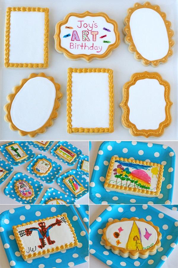 Art Frame Fondant Cookies