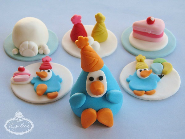 Colorful Penguin Cupcake Toppers