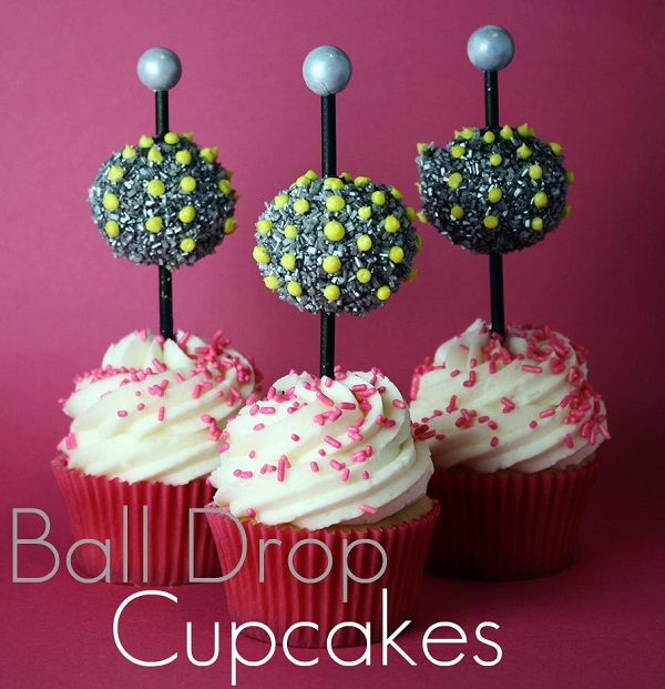 Cupcakes Topped with Disco Ball Toppers