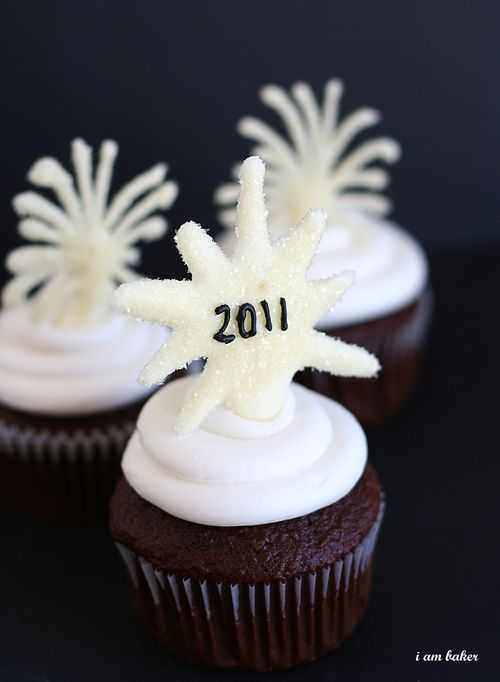 Cupcakes with Fireworks Toppers