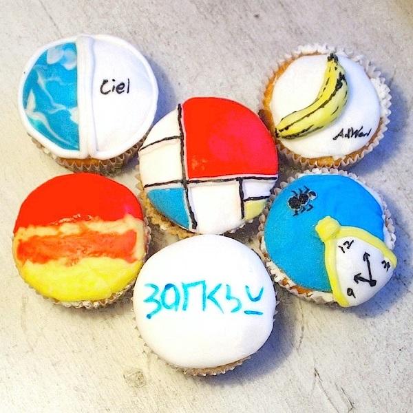 Modern Art Cupcake Designs