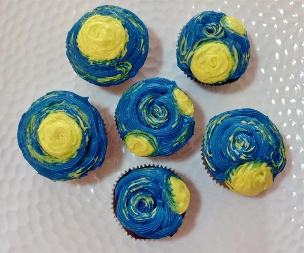 Starry Night Cupcakes