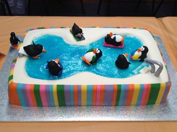 Penguins in a Swimming Pool - Bluprint Member Cake