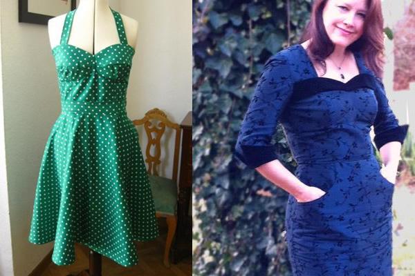 Tia Dress on Dress Form, Tia Dress on Woman