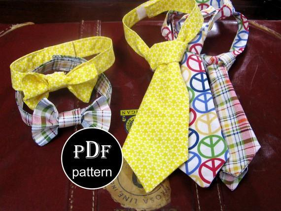 Bow Tie and Neck Ties - Patterns by Bluprint Member
