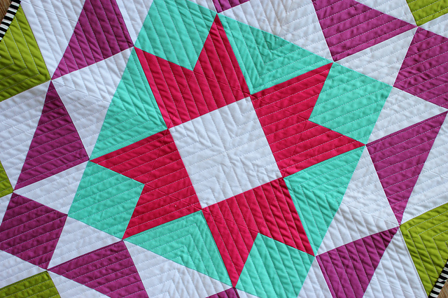 Quilt with Beautiful Straight-Line Stitching
