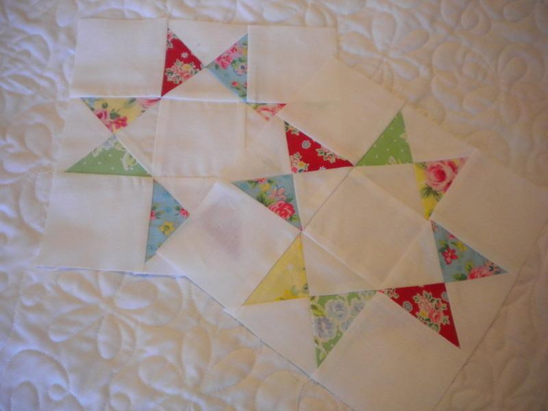 Pieced Quarter Square Triangle Blocks