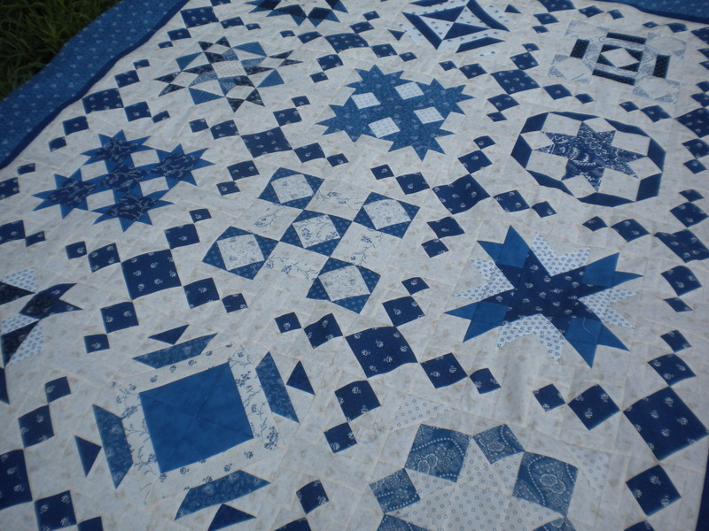 Quilt Created with Pieced Sashing