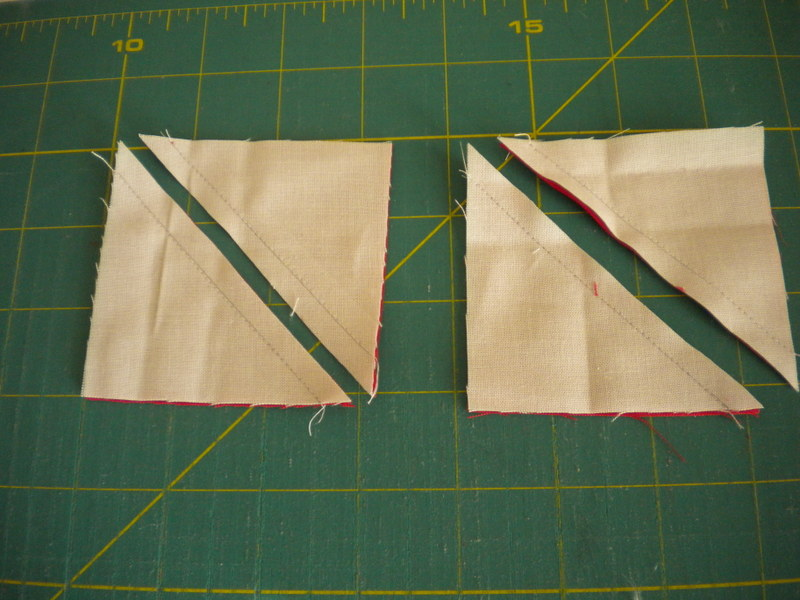 Cutting Fabric into Triangles