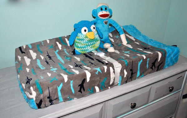 Airplane-Themed Changing Pad with Minky Fabric
