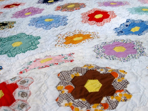 Colorful Floral-Themed Quilt