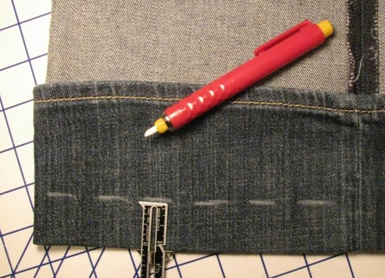 Marking a Pair of Jeans to Hem
