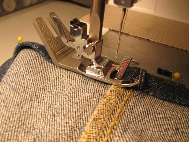 Machine Stitching the Hem
