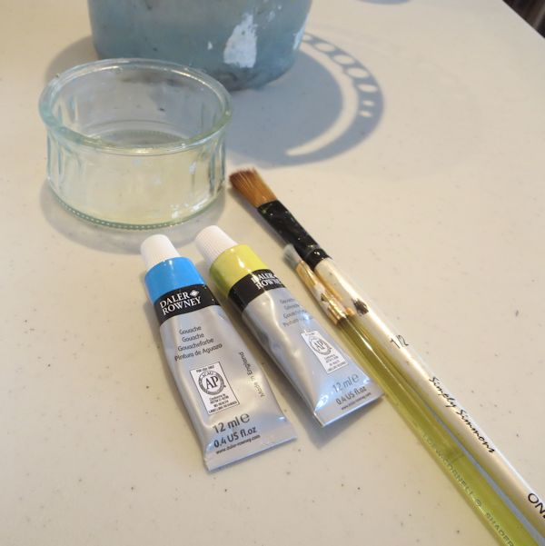 painting with gouache - supplies needed