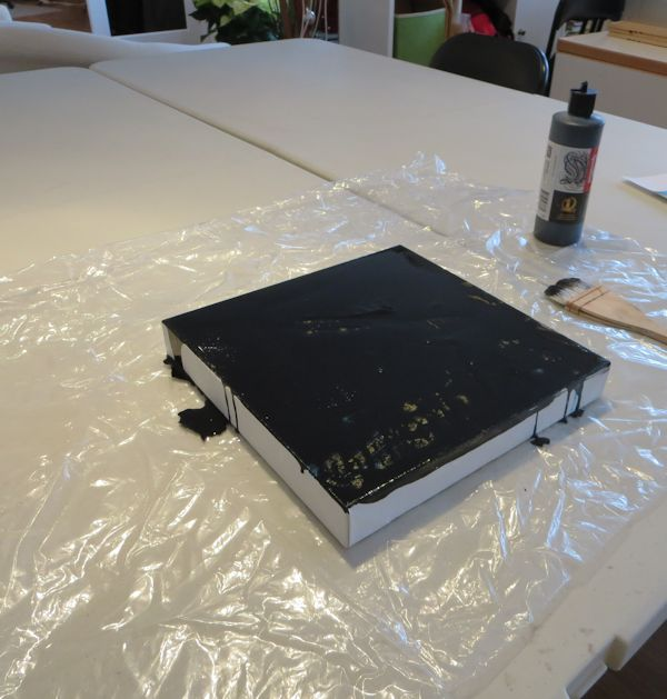 ink drying overnight for gouache technique