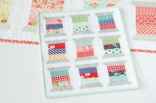 Mini Spool Quilt by Craftsy Member Camille Roskelley