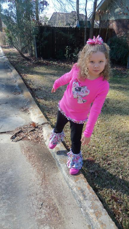 Little Girl in Rolled Hem Ruffled Pants - Craftsy