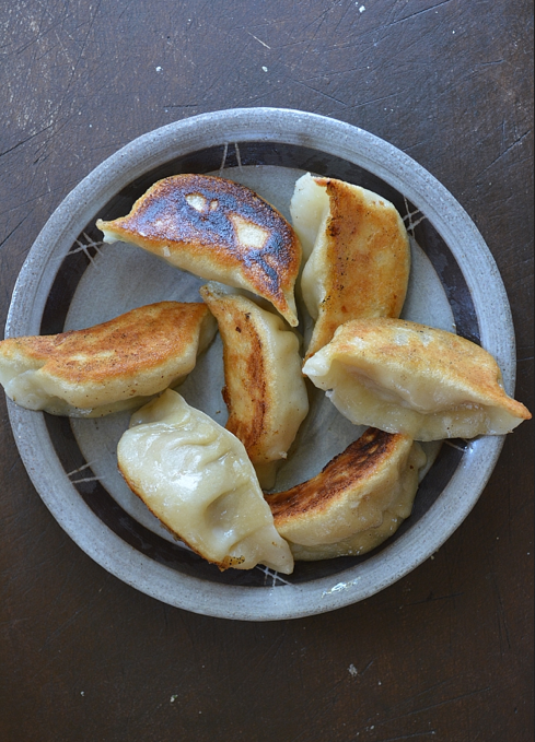 Dumplings Steamed then Fried