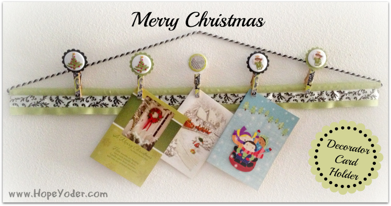 Embroidered Christmas Card Holder
