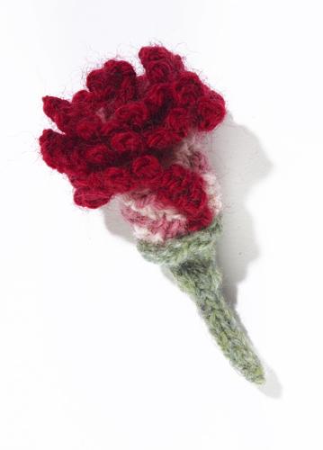 Knit clove carnation