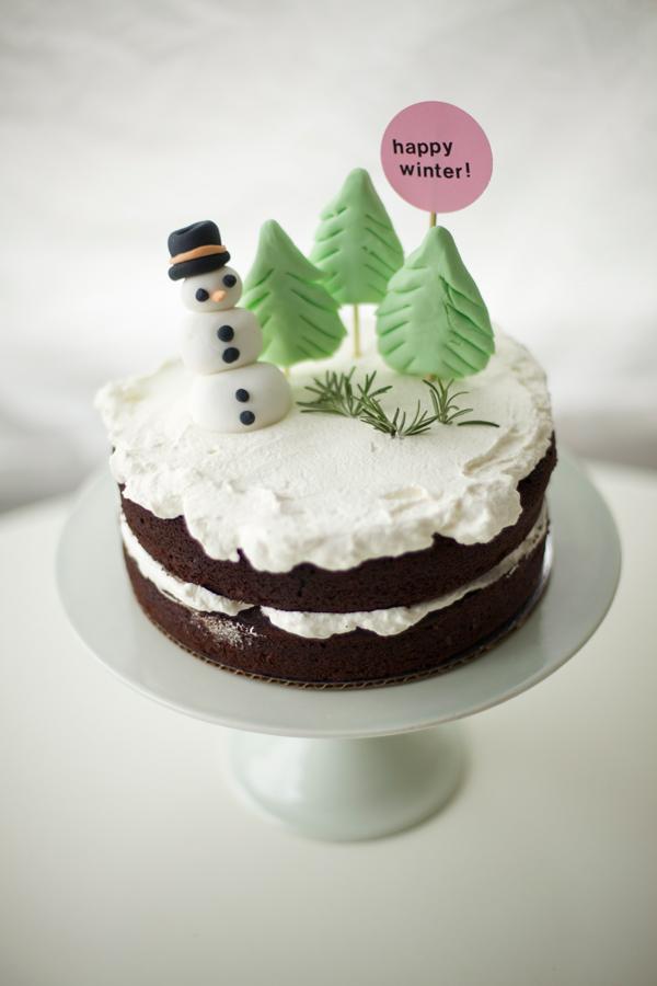 Finished Winter Cake - Bluprint.com