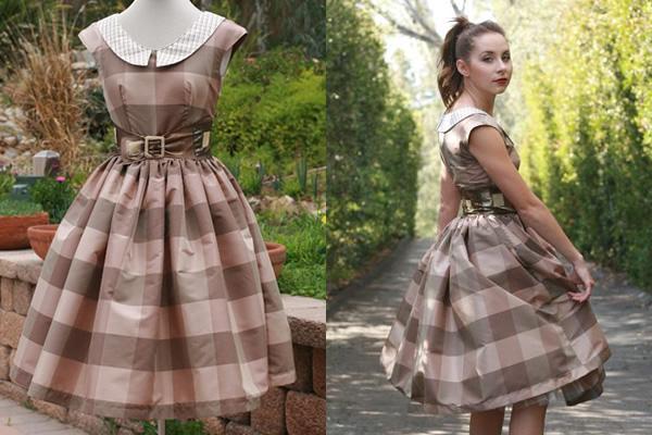Vintage Dress on Form and Model