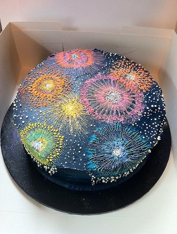NYE Fireworks Cake