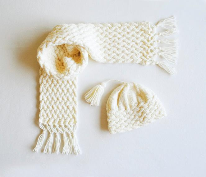 Cabled Scarf and Hat