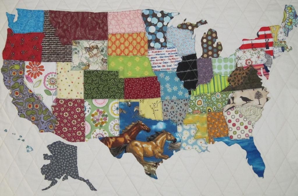 Patchwork Map Quilt of the US - Craftsy.com Pattern