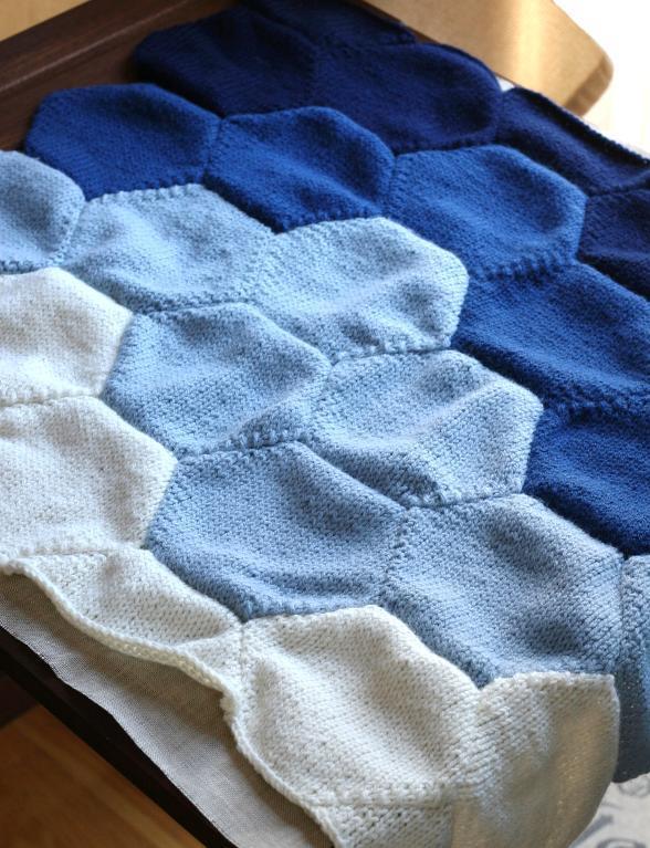 Knit sky blanket