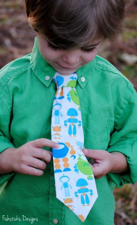 Little Boy Wearing Monster Tie - Bluprint.com
