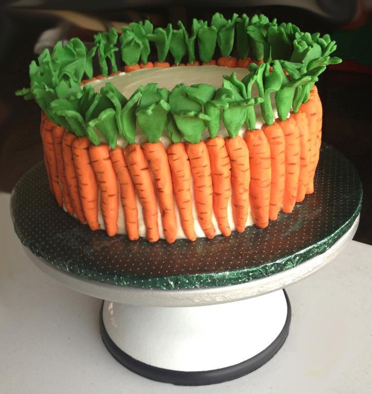 Cake Decorated with Fondant Carrots - Bluprint Member Project