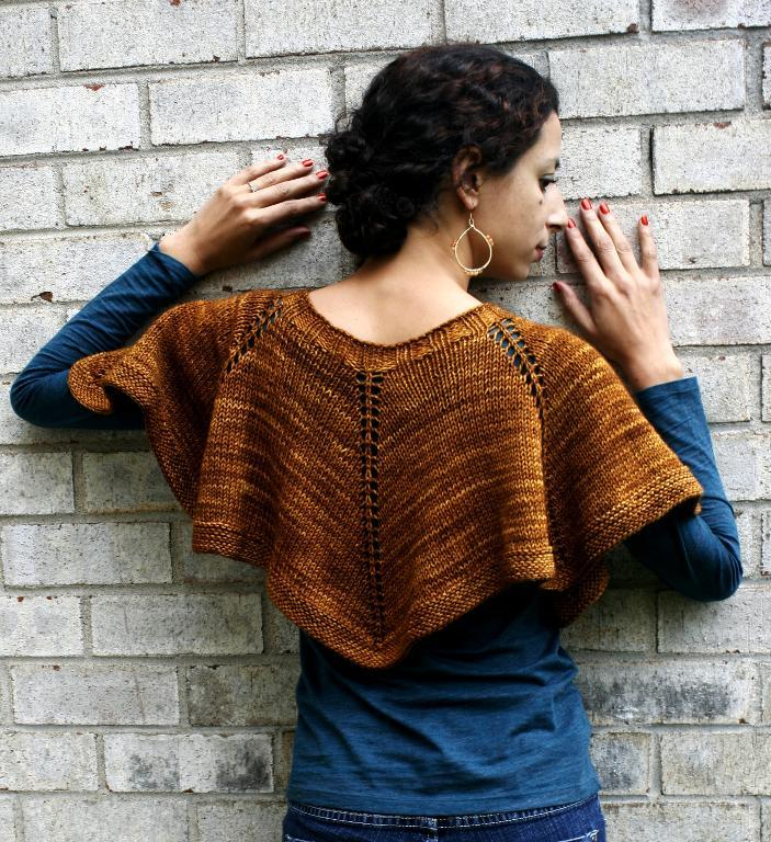 Stockinette stitch capelet