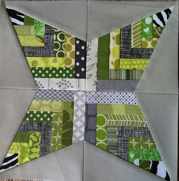 Basketweave Star Quilt Block