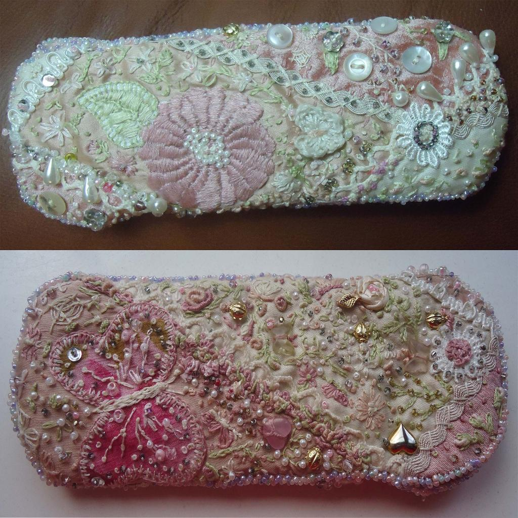 Embroidered and Quilted Glasses Cases