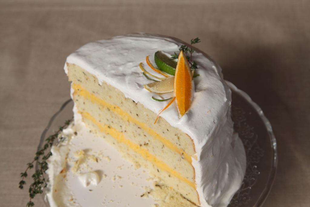 Vanilla Cake with Custard Filling