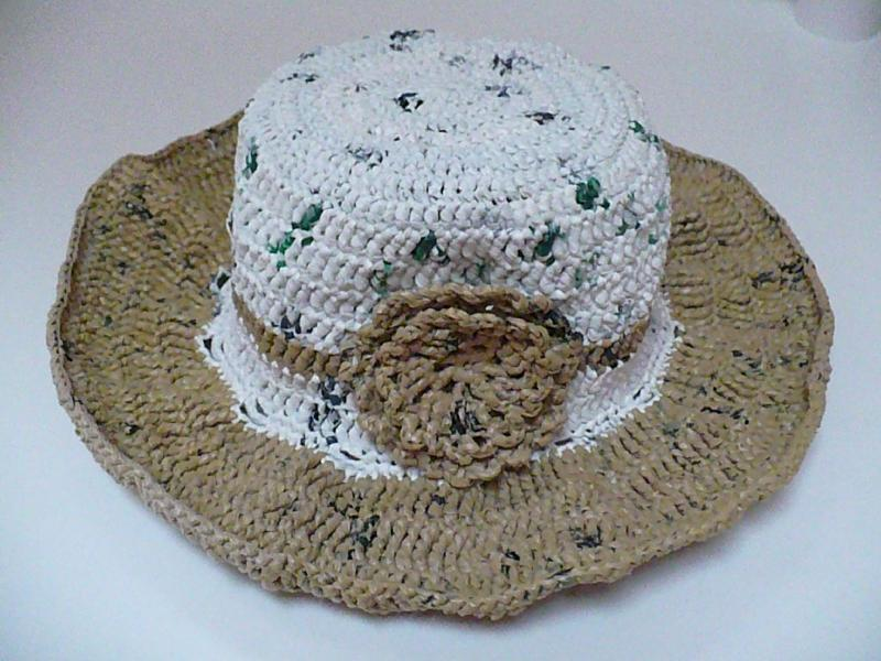 Hat Out of Plarn