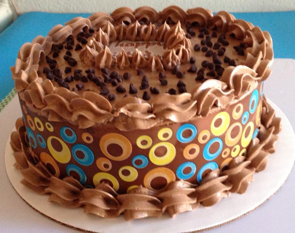 Decorated Chocolate Cake on Bluprint.com