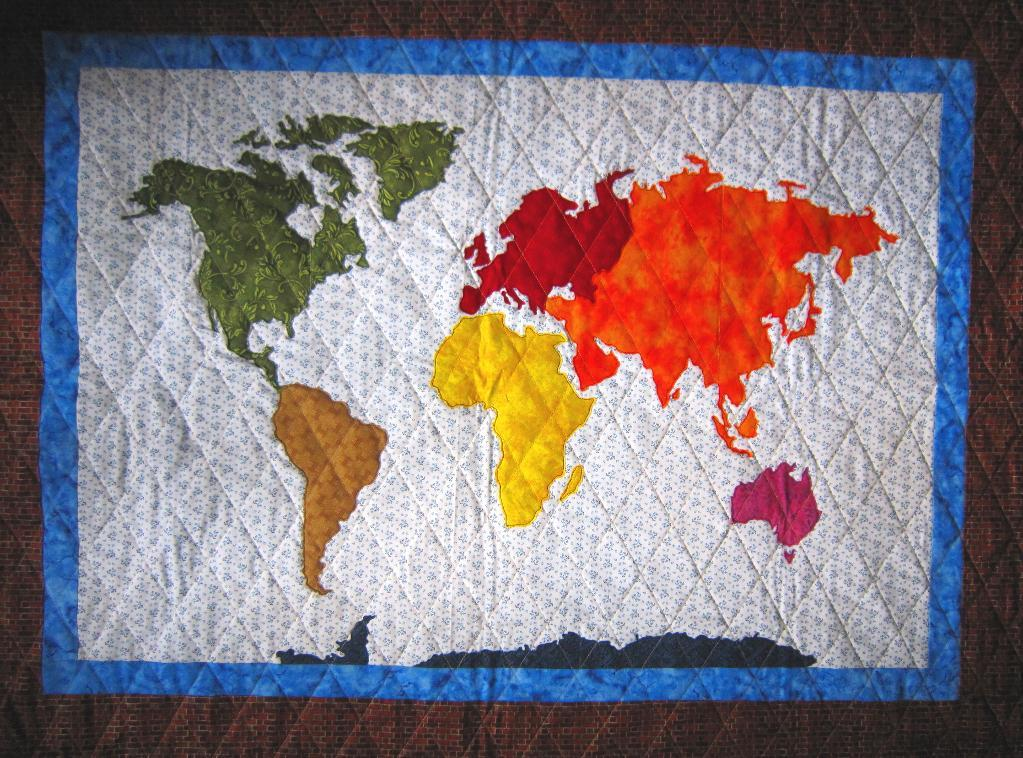Map the World: Patchwork Quilt