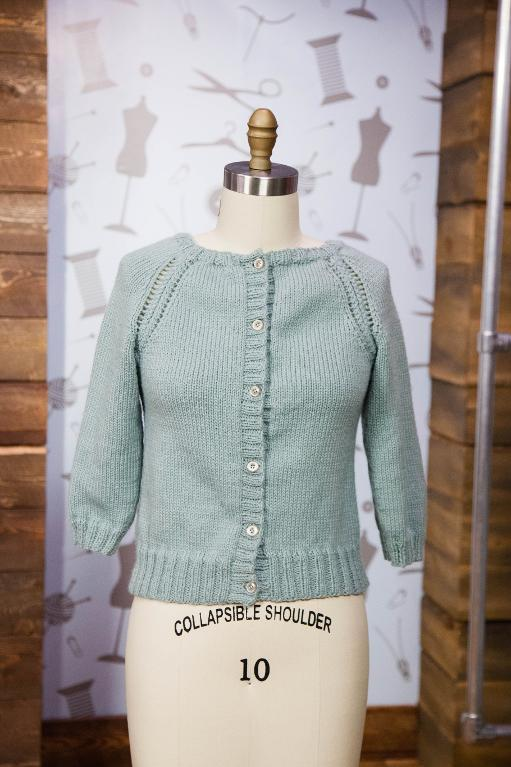 Sweater cardigan on a mannequin