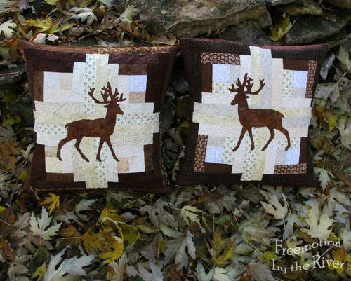 Quilted Pillows with Deer Design