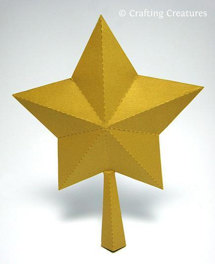 3-D Paper Star - Paper Crafts Pattern